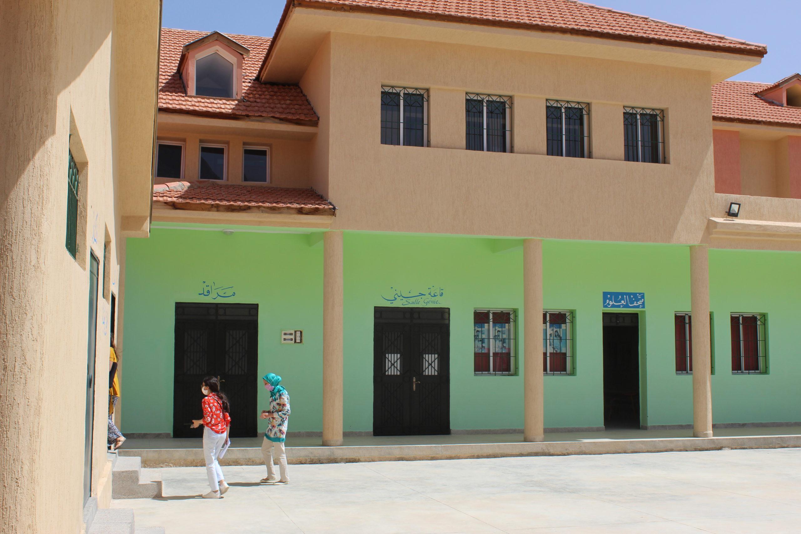 Visite école Midelt Geres rénovation énergétique