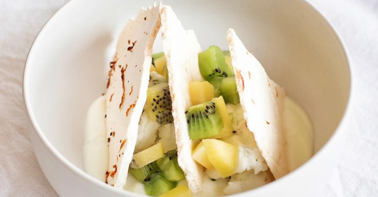 Pavlova kiwi dessert noel