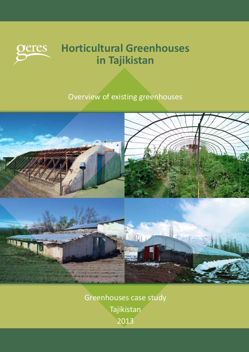 Etude serres horticoles au Tadjikistan