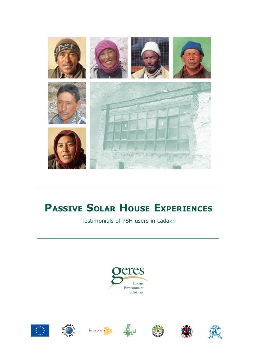 Témoignage d'utilisateurs de maisons solaires passives