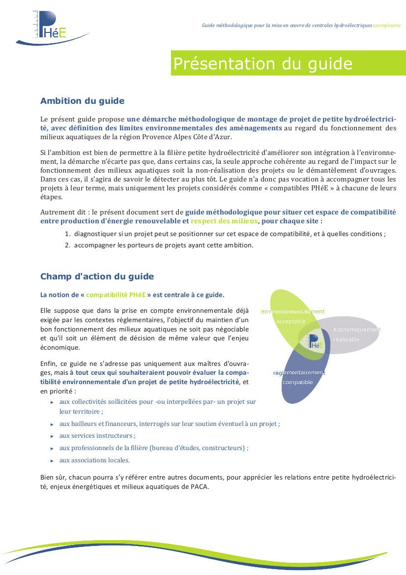 Guide de la Petite Hydroéletricité et Environnement en PACA