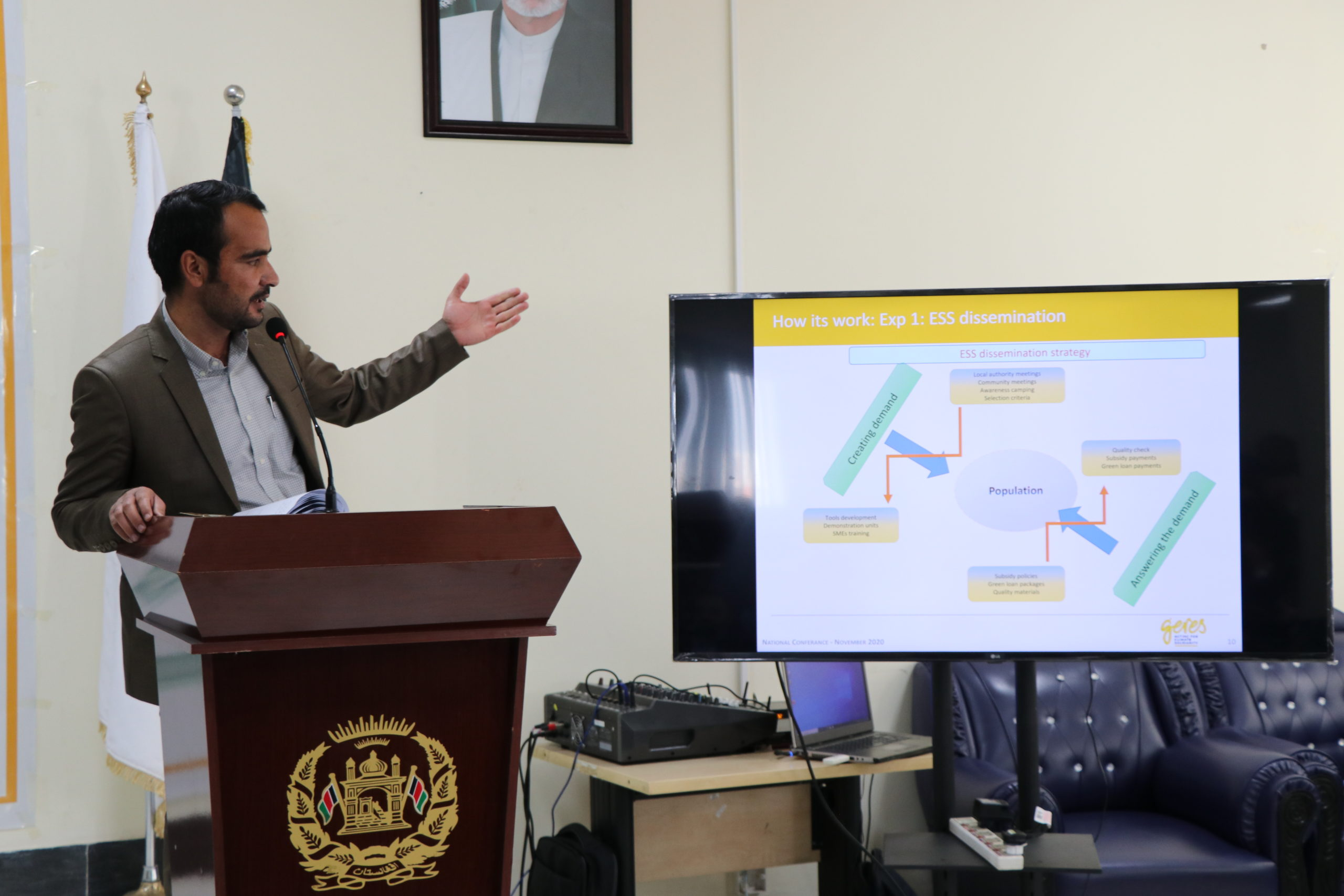 Geres organizes its first conference on energy poverty, climate change and air pollution in Afghanistan