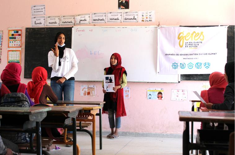 animation énergie climat école maroc